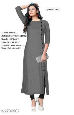 Women's Solid Rayon Kurti