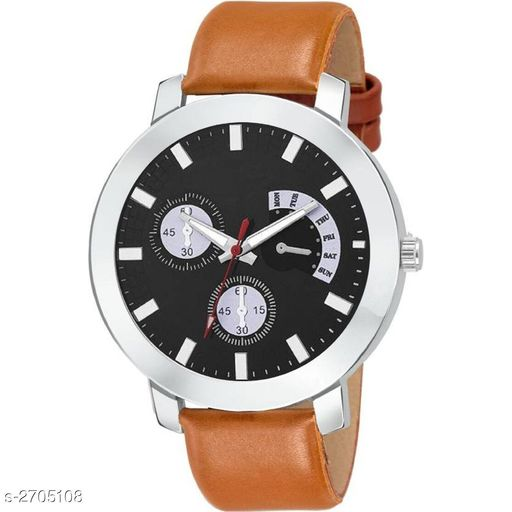 Watches Stylish Men's Analog Leather Watch  *Material* Leather   *Size* Free Size   *Type* Analog   *Description* It Has 1 Piece Of Men's Watch  *Sizes Available* Free Size *    Catalog Name:  Ashi Stylish Men's Analog Leather Watches Vol 13 CatalogID_366389 C65-SC1232 Code: 022-2705108-