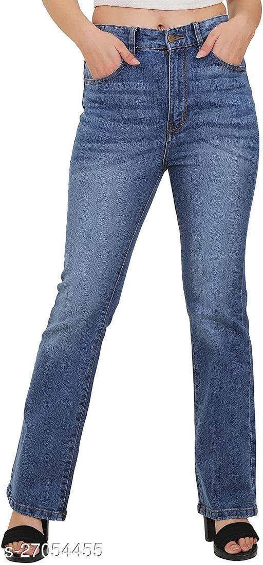 Sisney High Waist Boot Cut Jeans For Women