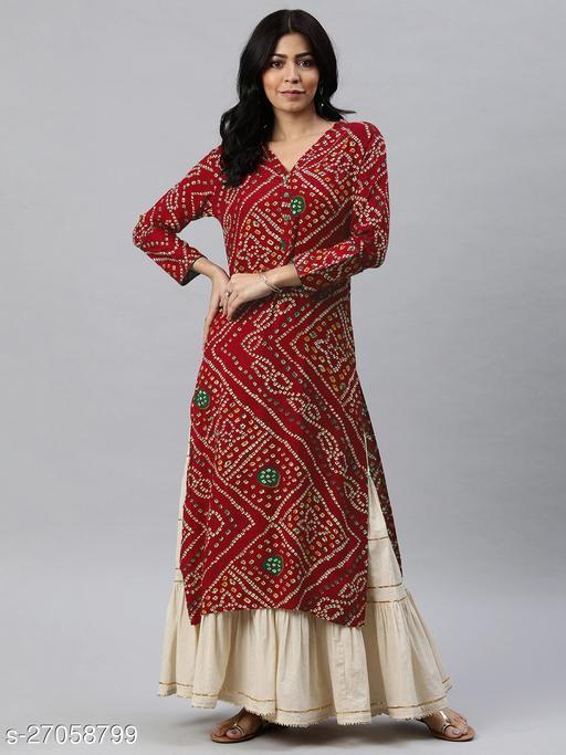 Vaamsi Women's Cotton PrintedKurtis
