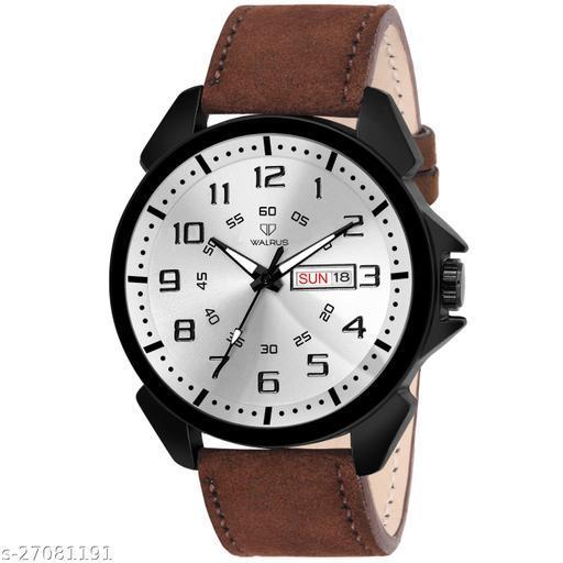 Walrus Ballard II Series Silver Dial Men Wristwatch With Day & Date Function