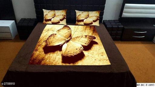 Hut Velvet Double Bedsheet