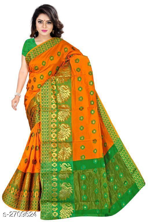 Beautiful Banarasi Cotton Silk Women's Saree
