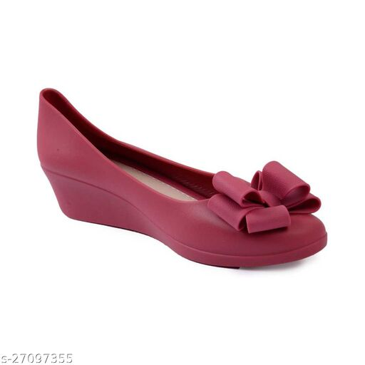 WMK Maroon Casual Belly | Comfortable Light Weight Bellies for Girls and Women