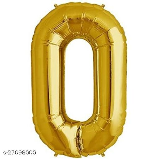 LUXZURY DSP 0 number Foil Balloons