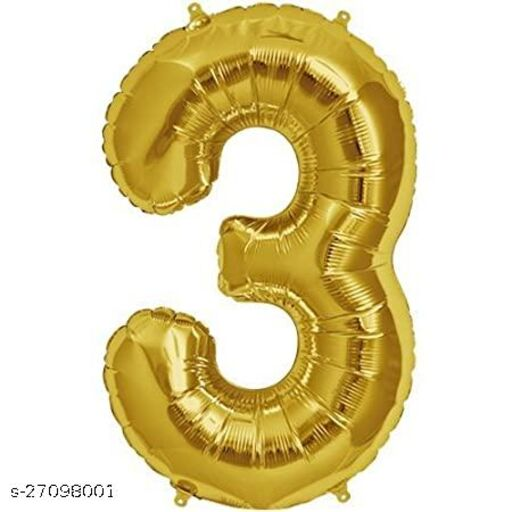 LUXZURY DSP 3 number Foil Balloons