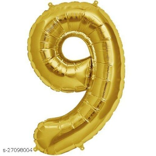 LUXZURY DSP 9 number Foil Balloons