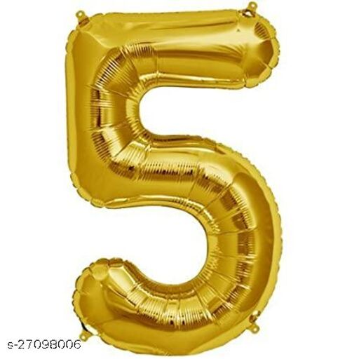 LUXZURY DSP 5 number Foil Balloons