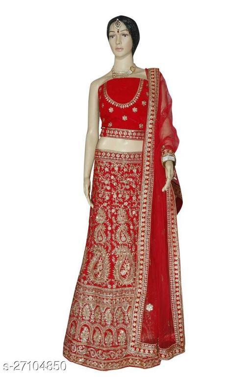 Red Embroidered Bridal Lehenga Choli