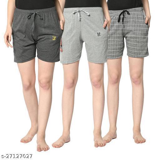 Vimal Jonney Multicolor Shorts For Women(Pack Of 3)