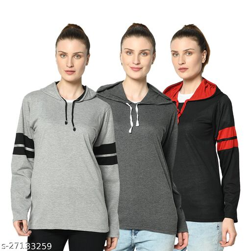 Vimal Jonney Multicolor Sweaters For Women (Pack Of 3)