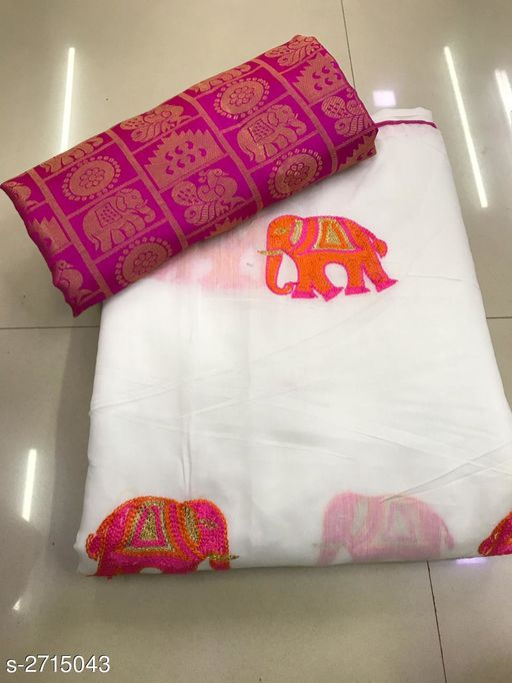 Fancy Chanderi Cotton Women's Saree
