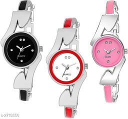 Pretty Attractive Women's Watch(Pack Of 3)