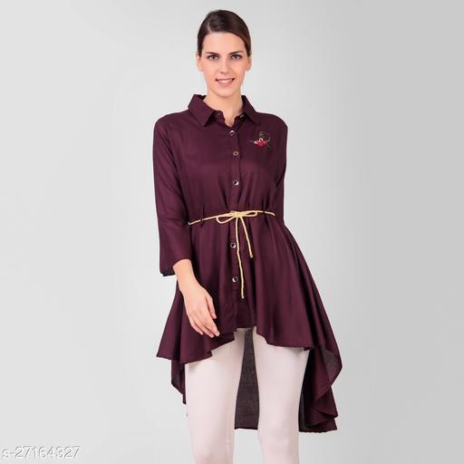 LADYANA WINE HIGH LOW DRESS
