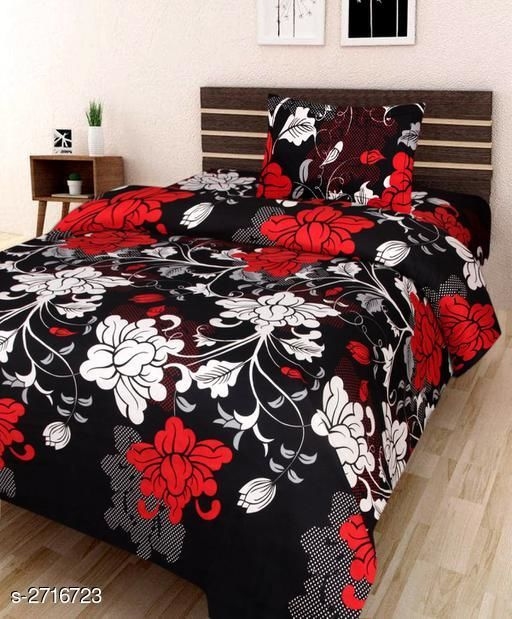 Comfy Microfiber Printed Single Bedsheet