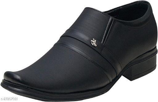 DEEKADA Men's Black Synthetic Leather Formal Shoes