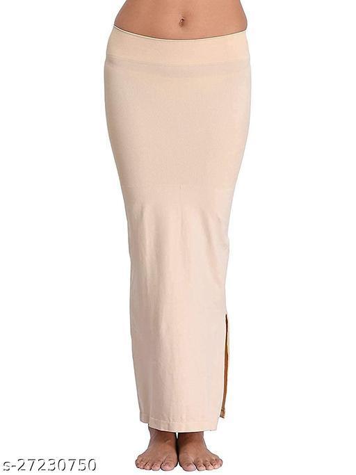 women mode Microfiber Saree Shapewear Petticoat for Women (Black)