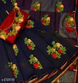Attractive Chenderi Cotton Women's Saree