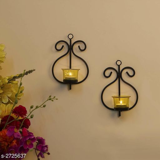 Trendy Tealight Candle Holder Wall Hanging(set of 2)