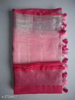 Trendy Pure Linen Saree
