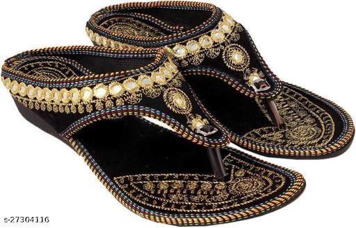 Ethnic velvet women's footwear