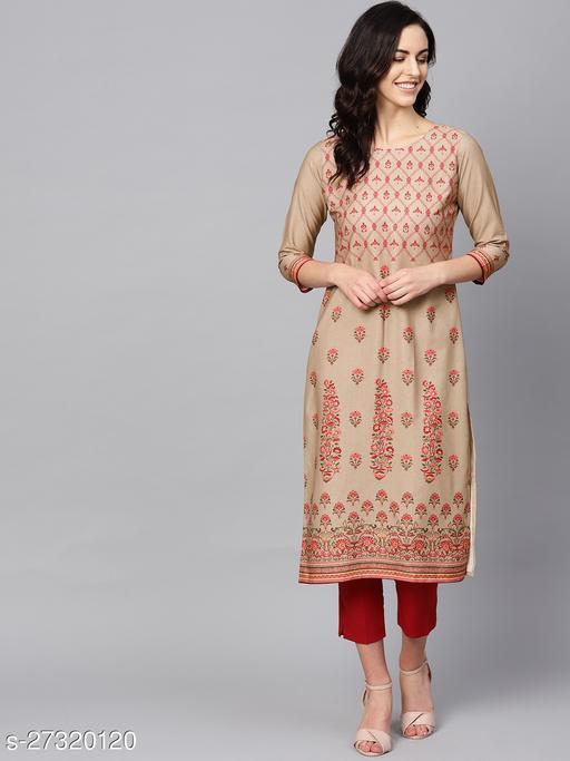 Women's Polyester Printed Kurta