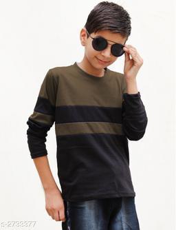 Classy Kid's Boy's Cotton Blend T-Shirt