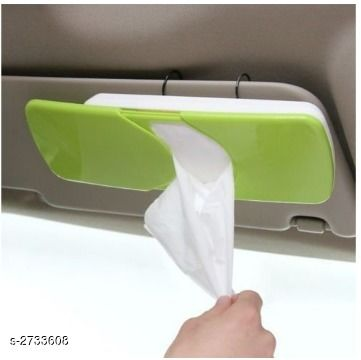 Car Accessories Car Tissue Box  *Material* Plastic  *Size* Free Size  *Description* It Has 1 Piece Of  Car Tissue Box  *Sizes Available* Free Size *   Catalog Rating: ★3.6 (39)  Catalog Name: Trendy Useful Car Accessories Vol 6 CatalogID_370476 C107-SC1414 Code: 952-2733608-