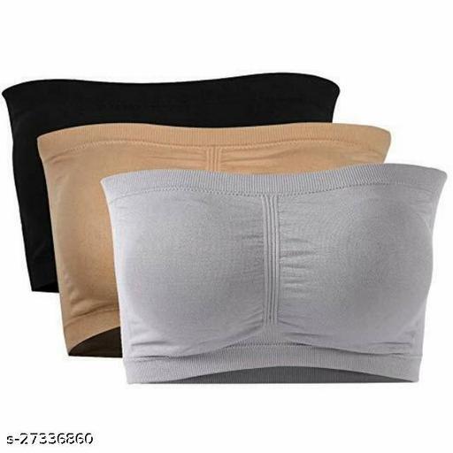 Piftif Women strapless seamless non padded tube bra Beandue bra