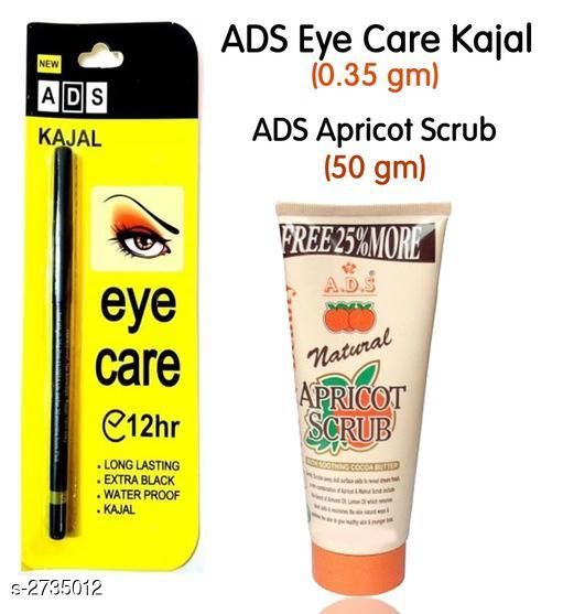 ADS Eye Care Kajal and Apricot Scrub(Pack of 2)