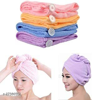 Hair wrapper towel for quick hair drying with microfiber multicolor