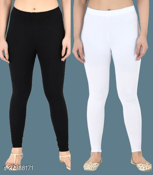 Women Casual Ankle Length Leggings Combo of 2