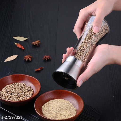 Stainless Steel Salt and Pepper Crusher- Adjustable Ceramic Sea Salt Crusher & Pepper Crusher