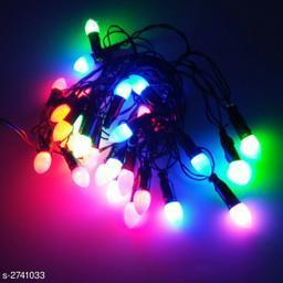 3 Meter (Approx) 28 Bulb White Grape Design Color Full Small Black Wire String Light
