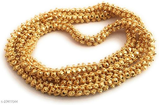 VR Fashion HUB Copper Gold Plated Long Chain For Women and Girls