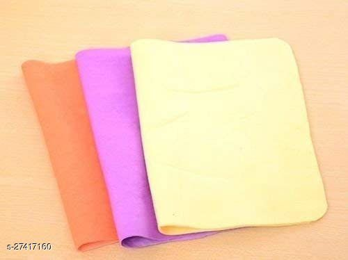 Magic Towel Reusable Absorbent Water for Kitchen Cleaning Car Cleaning , Unique Living Magic Towel, Super Absorbent, Chamois Leather Wipes-29 cms x 39 cms, Pack of 3