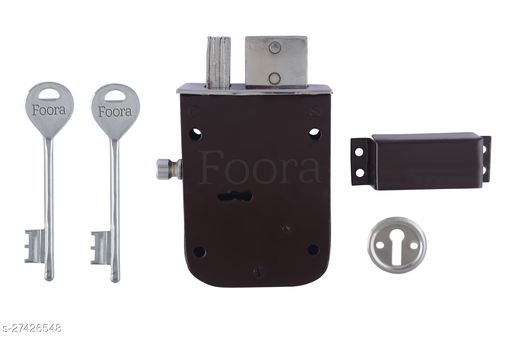 Foora Plain 2 in 1 6 Levers Double Chal Door Inter Lock with a Tower Bolt 110 mm Lock