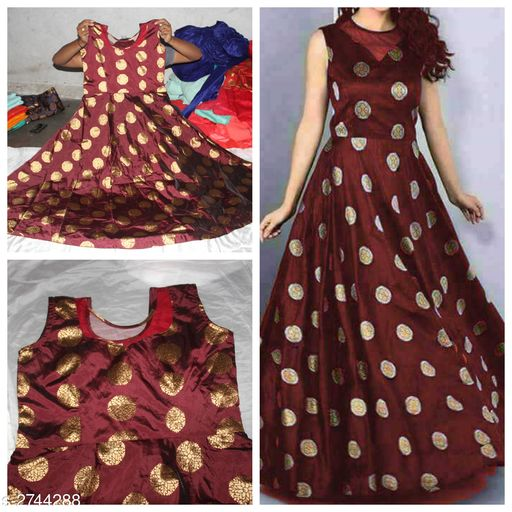 Alluring Jacquard Women's Gown