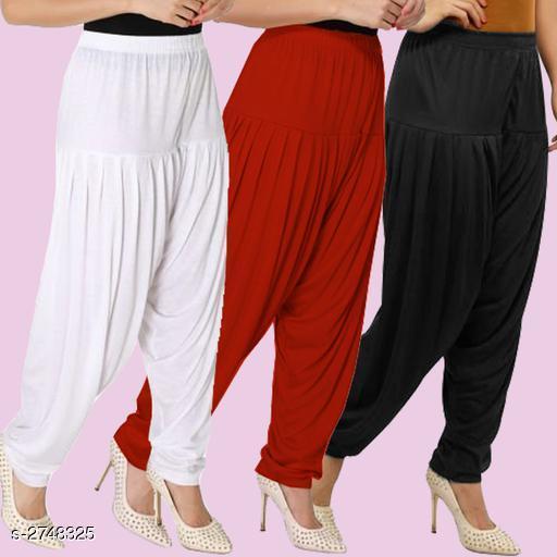 Fabulous Viscose Women's Patiala Pant Combo ( Pack Of 3)
