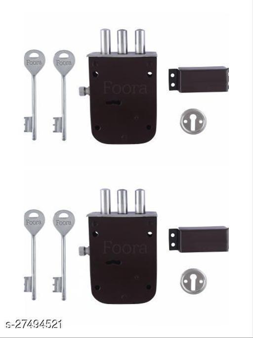 Foora Bullet 2 in 1 6 Levers Double Chal Door lock with latch bolt Lock