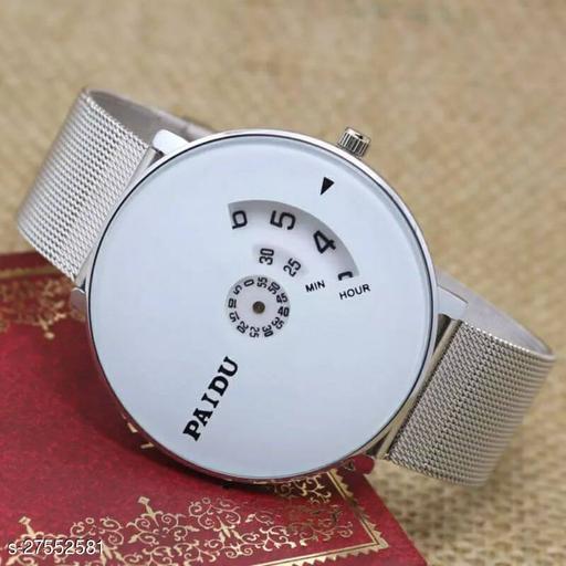 PAIDU BEST STYLISH White Watch Saffer Chain for Men Hybrid Smartwatch Watch - For Men