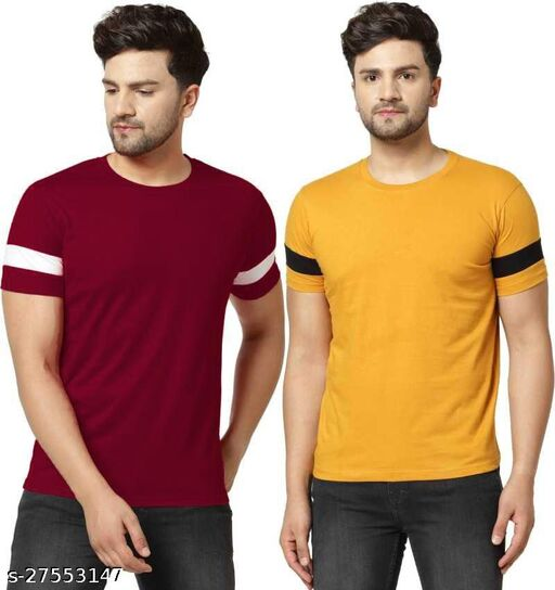 Tazo Cotton T-Shirts For Men (Pack Of 2)