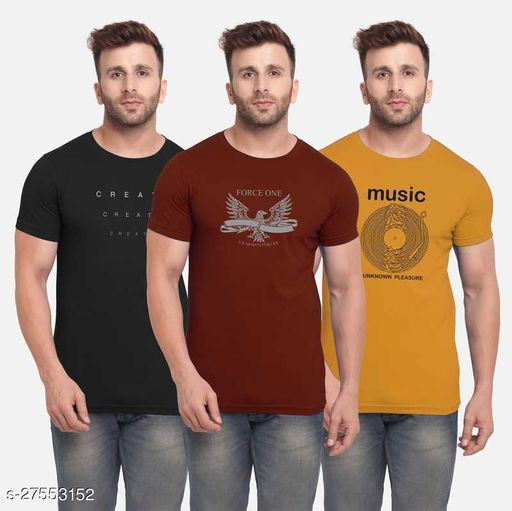 Tazo Cotton T-Shirts For Men (Pack Of 3)