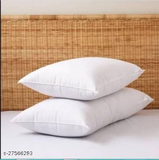 """Sweet Dream Polyester Fiber , Extra Comfortable Sleeping Pillow, Soft Sleeping Pillow Pack of 2 (White) Standard Size 16""""x24"""" Inches"""