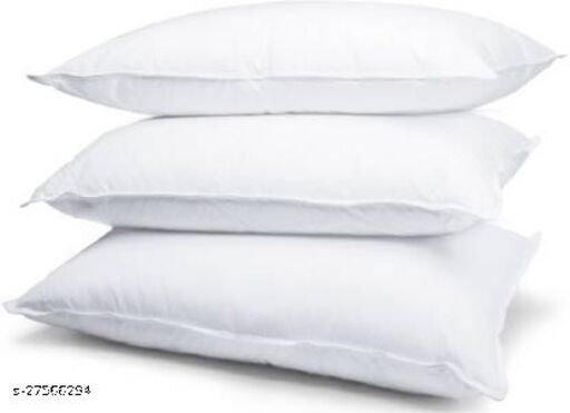"""Sweet Dream Polyester Fiber , Extra Comfortable Sleeping Pillow, Soft Sleeping Pillow Pack of 3 (White) Standard Size 16""""x24"""" Inches"""
