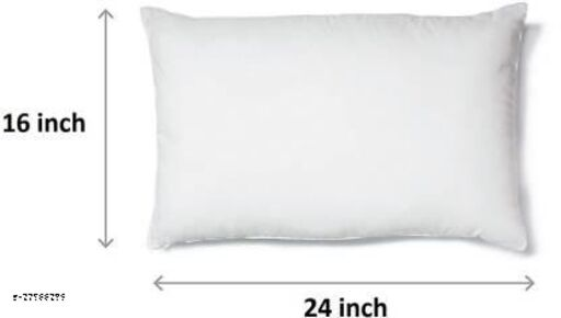 """Sweet Dream Polyester Fiber , Extra Comfortable Sleeping Pillow , Soft Sleeping Pillow Pack of 1 (White) Standard Size 16""""x24"""" Inches"""