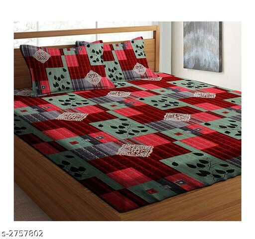 Designer Microfiber Double Bedsheet