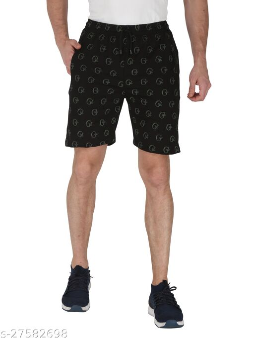 3BROS Multicoloured Printed Shorts For Men