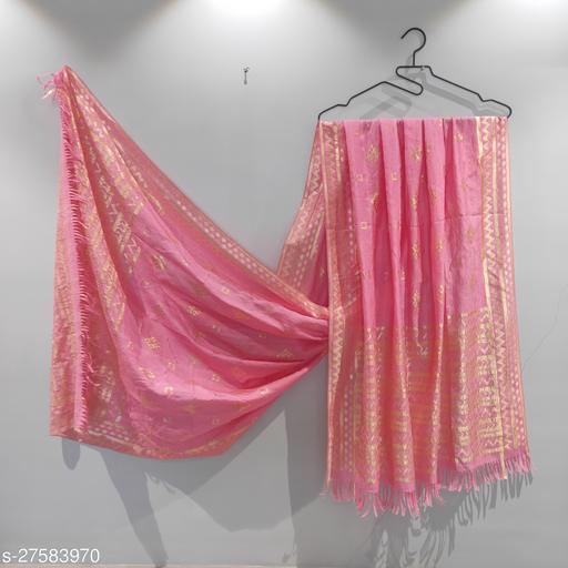 Jivoli Banarasi Soft Pashimina Chiffon Pink Pastel Dupatta