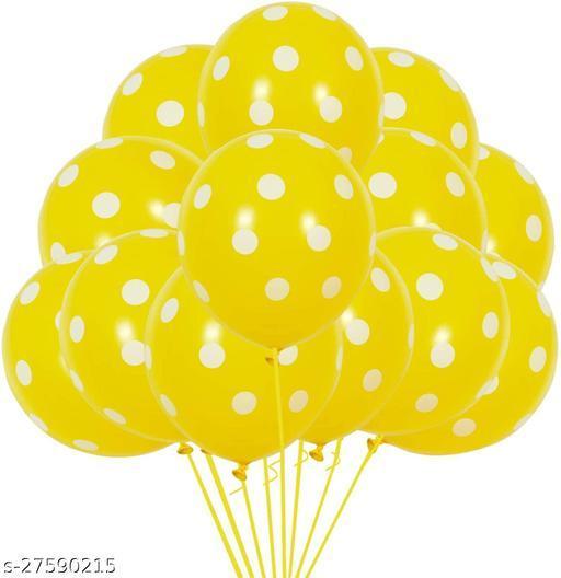 100pcs Yellow Polka Dots Balloons 12inch Large Polka Dot Latex Party Balloons for Wedding Birthday Party Festival Decoration Supplies